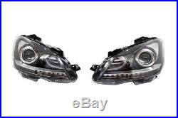 Phares LED DRL Mercedes W204 Facelift AMG Look 07-12 Feux Jour+Pare-chocs